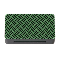 Woven2 Black Marble & Green Denim Memory Card Reader With Cf by trendistuff