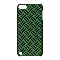 Woven2 Black Marble & Green Denim Apple Ipod Touch 5 Hardshell Case With Stand by trendistuff