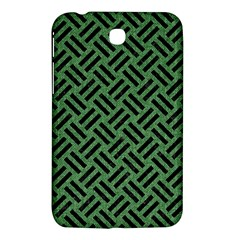 Woven2 Black Marble & Green Denim Samsung Galaxy Tab 3 (7 ) P3200 Hardshell Case  by trendistuff