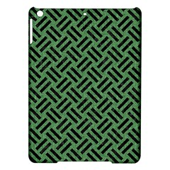 Woven2 Black Marble & Green Denim Ipad Air Hardshell Cases by trendistuff