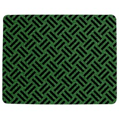 Woven2 Black Marble & Green Denim Jigsaw Puzzle Photo Stand (rectangular) by trendistuff