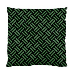Woven2 Black Marble & Green Denim (r) Standard Cushion Case (two Sides) by trendistuff