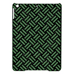 Woven2 Black Marble & Green Denim (r) Ipad Air Hardshell Cases by trendistuff
