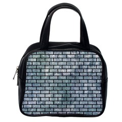 Brick1 Black Marble & Ice Crystals Classic Handbags (one Side) by trendistuff