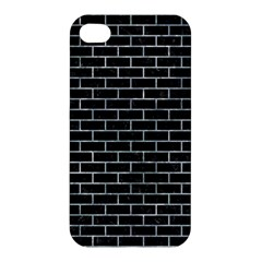 Brick1 Black Marble & Ice Crystals (r) Apple Iphone 4/4s Hardshell Case