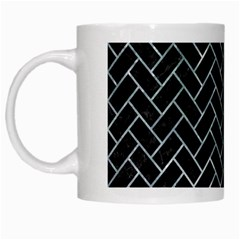 Brick2 Black Marble & Ice Crystals (r) White Mugs by trendistuff