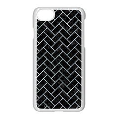 Brick2 Black Marble & Ice Crystals (r) Apple Iphone 7 Seamless Case (white) by trendistuff