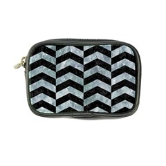 Chevron2 Black Marble & Ice Crystals Coin Purse by trendistuff
