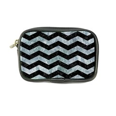 Chevron3 Black Marble & Ice Crystals Coin Purse by trendistuff