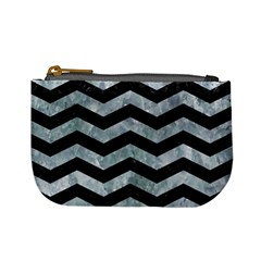 Chevron3 Black Marble & Ice Crystals Mini Coin Purses by trendistuff