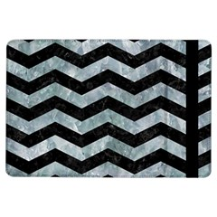 Chevron3 Black Marble & Ice Crystals Ipad Air Flip by trendistuff