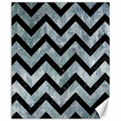 Chevron9 Black Marble & Ice Crystals Canvas 8  X 10  by trendistuff