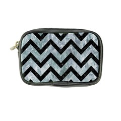 Chevron9 Black Marble & Ice Crystals Coin Purse by trendistuff