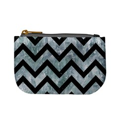 Chevron9 Black Marble & Ice Crystals Mini Coin Purses by trendistuff