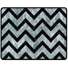Chevron9 Black Marble & Ice Crystals Double Sided Fleece Blanket (medium)  by trendistuff