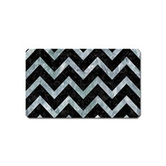 Chevron9 Black Marble & Ice Crystals (r) Magnet (name Card) by trendistuff