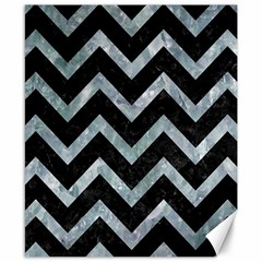 Chevron9 Black Marble & Ice Crystals (r) Canvas 8  X 10  by trendistuff