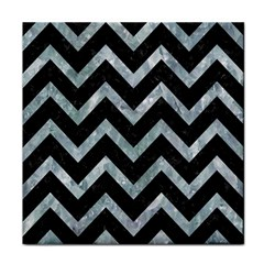 Chevron9 Black Marble & Ice Crystals (r) Face Towel by trendistuff
