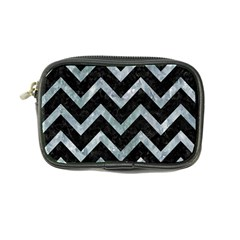 Chevron9 Black Marble & Ice Crystals (r) Coin Purse by trendistuff