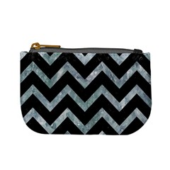 Chevron9 Black Marble & Ice Crystals (r) Mini Coin Purses by trendistuff