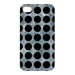 Circles1 Black Marble & Ice Crystals Apple Iphone 4/4s Hardshell Case by trendistuff