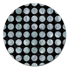 Circles1 Black Marble & Ice Crystals (r) Magnet 5  (round)
