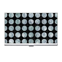 Circles1 Black Marble & Ice Crystals (r) Business Card Holders by trendistuff