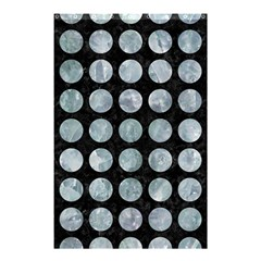 Circles1 Black Marble & Ice Crystals (r) Shower Curtain 48  X 72  (small)  by trendistuff