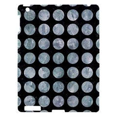 Circles1 Black Marble & Ice Crystals (r) Apple Ipad 3/4 Hardshell Case by trendistuff