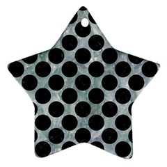 Circles2 Black Marble & Ice Crystals Ornament (star) by trendistuff