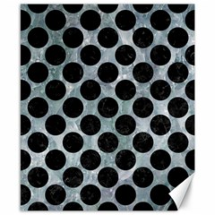 Circles2 Black Marble & Ice Crystals Canvas 8  X 10  by trendistuff