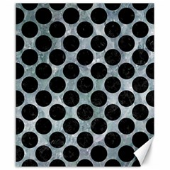 Circles2 Black Marble & Ice Crystals Canvas 20  X 24   by trendistuff