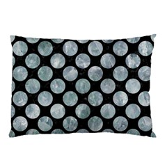 Circles2 Black Marble & Ice Crystals (r) Pillow Case (two Sides) by trendistuff