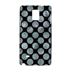 Circles2 Black Marble & Ice Crystals (r) Samsung Galaxy Note 4 Hardshell Case by trendistuff