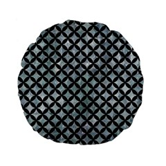 Circles3 Black Marble & Ice Crystals Standard 15  Premium Flano Round Cushions by trendistuff
