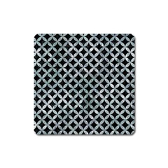 Circles3 Black Marble & Ice Crystals (r) Square Magnet by trendistuff