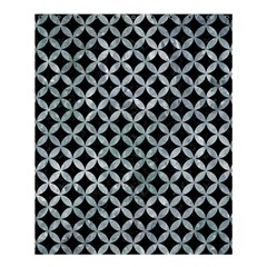 Circles3 Black Marble & Ice Crystals (r) Shower Curtain 60  X 72  (medium)  by trendistuff