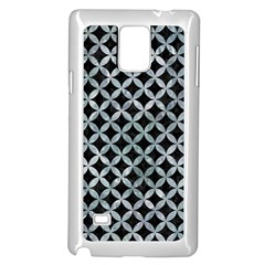 Circles3 Black Marble & Ice Crystals (r) Samsung Galaxy Note 4 Case (white) by trendistuff