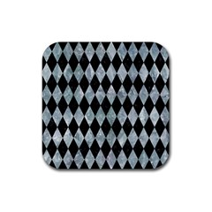 Diamond1 Black Marble & Ice Crystals Rubber Square Coaster (4 Pack)  by trendistuff