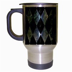 Diamond1 Black Marble & Ice Crystals Travel Mug (silver Gray) by trendistuff
