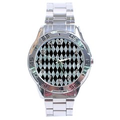 Diamond1 Black Marble & Ice Crystals Stainless Steel Analogue Watch by trendistuff