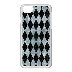 Diamond1 Black Marble & Ice Crystals Apple Iphone 8 Seamless Case (white) by trendistuff