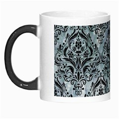 Damask1 Black Marble & Ice Crystals Morph Mugs by trendistuff