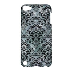 Damask1 Black Marble & Ice Crystals Apple Ipod Touch 5 Hardshell Case by trendistuff