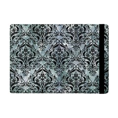 Damask1 Black Marble & Ice Crystals Apple Ipad Mini Flip Case