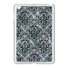 Damask1 Black Marble & Ice Crystals Apple Ipad Mini Case (white) by trendistuff