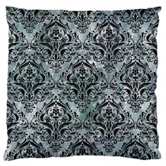 Damask1 Black Marble & Ice Crystals Large Flano Cushion Case (one Side) by trendistuff