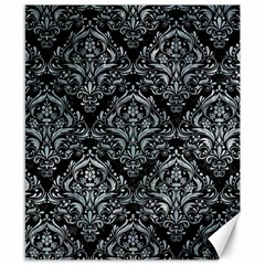 Damask1 Black Marble & Ice Crystals (r) Canvas 8  X 10  by trendistuff