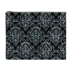 Damask1 Black Marble & Ice Crystals (r) Cosmetic Bag (xl) by trendistuff