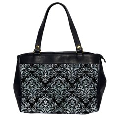 Damask1 Black Marble & Ice Crystals (r) Office Handbags (2 Sides)  by trendistuff